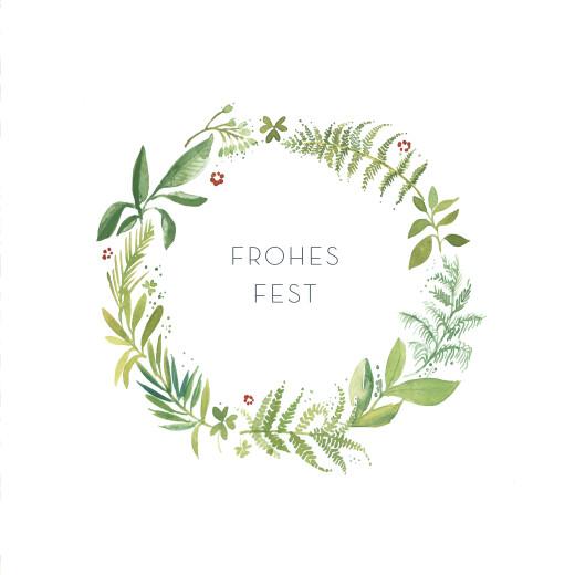 Weihnachtskarten Waldgeflüster grün