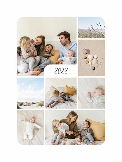 Poster klein Raffinesse (8 fotos) weiß finition