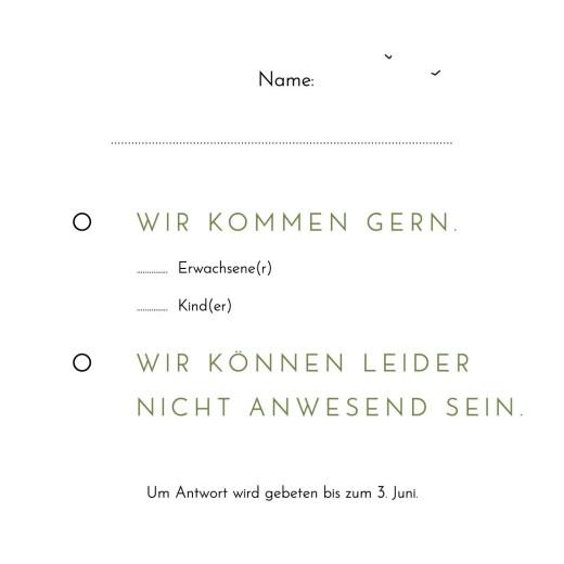 Antwortkarte Hochzeit Sommerhochzeit (kleines) weiß - Seite 2