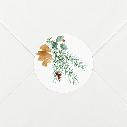 Aufkleber Weihnachten Blumen aquarell winter weiß - Ansicht 2