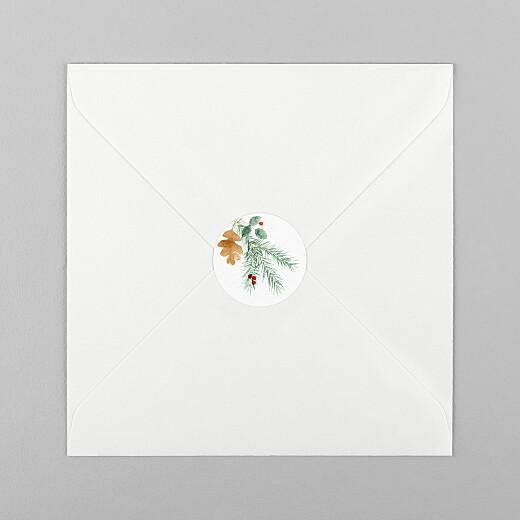 Aufkleber Weihnachten Blumen aquarell winter weiß - Ansicht 1