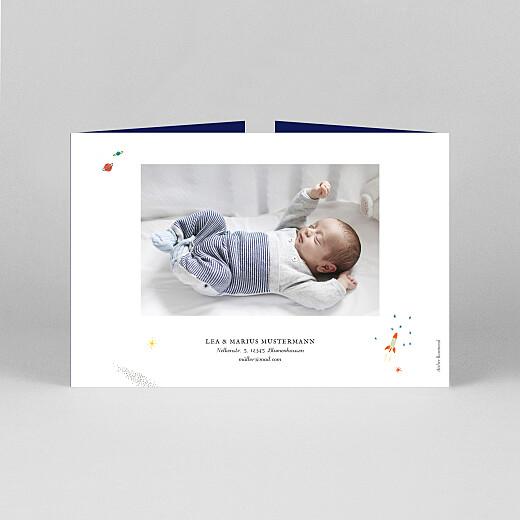 Geburtskarten Es war einmal... (duo querformat) bis weltraum - Ansicht 3