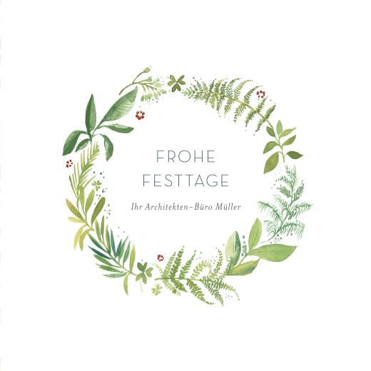 Weihnachtskarten geschäftlich Waldgeflüster grün