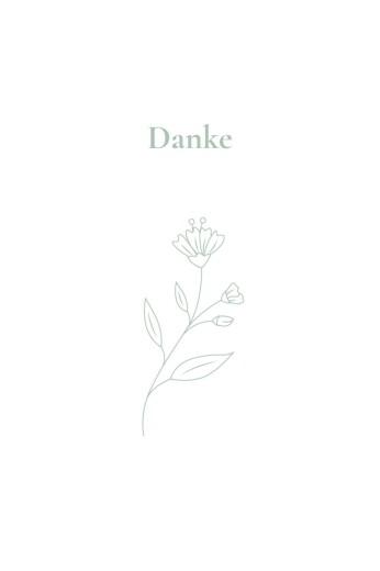 Dankeskarten Lilie zartgrün