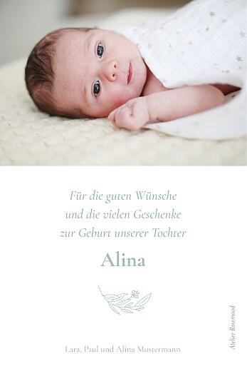Dankeskarten Lilie zartgrün - Seite 2