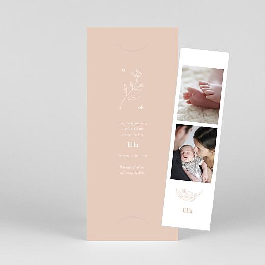 Geburtskarten Lilie (fotostreifen) rosa - Ansicht 1