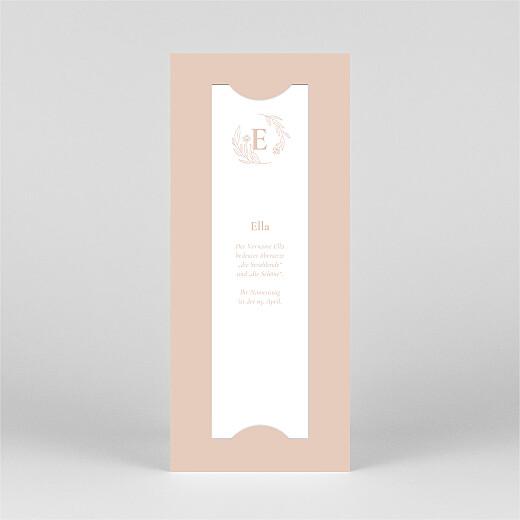 Geburtskarten Lilie (fotostreifen) rosa - Ansicht 3
