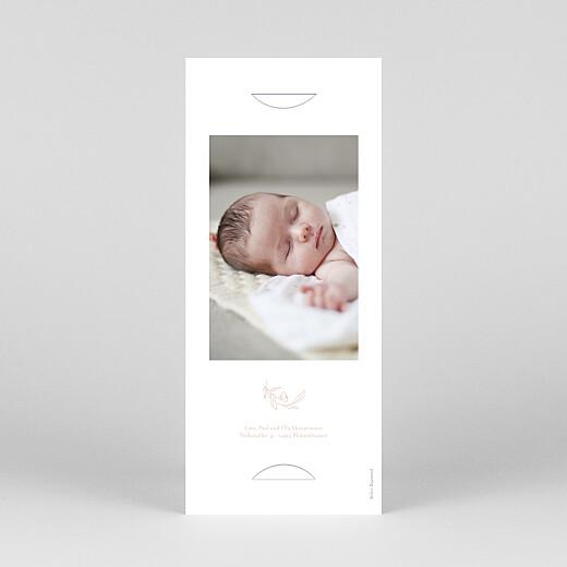 Geburtskarten Lilie (fotostreifen) rosa - Ansicht 4