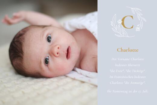 Geburtskarten Lilie gelb