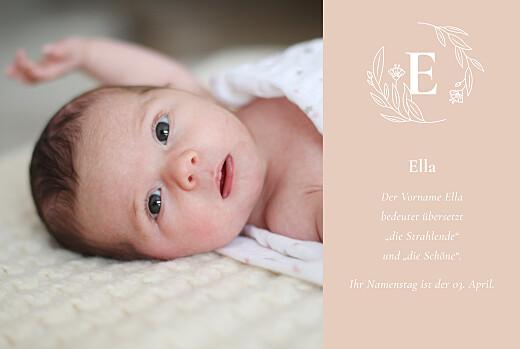Geburtskarten Lilie rosa