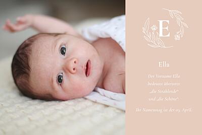 Geburtskarten Lilie rosa finition