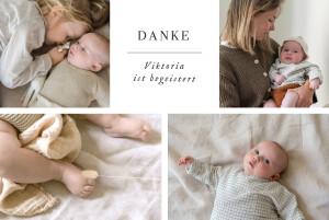 Dankeskarten Sweet moments (5 fotos) weiß