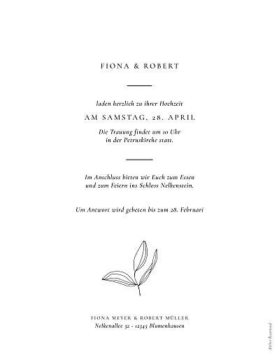 Hochzeitseinladungen Liebesgedicht (hoch) weiß - Seite 2