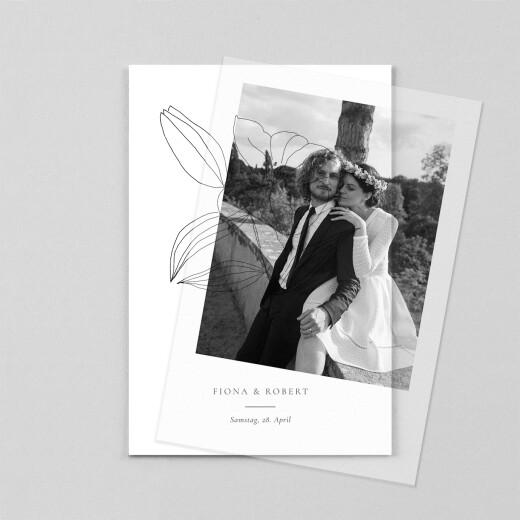 Dankeskarten Hochzeit Liebesgedicht (transparentpapier) white - Ansicht 1