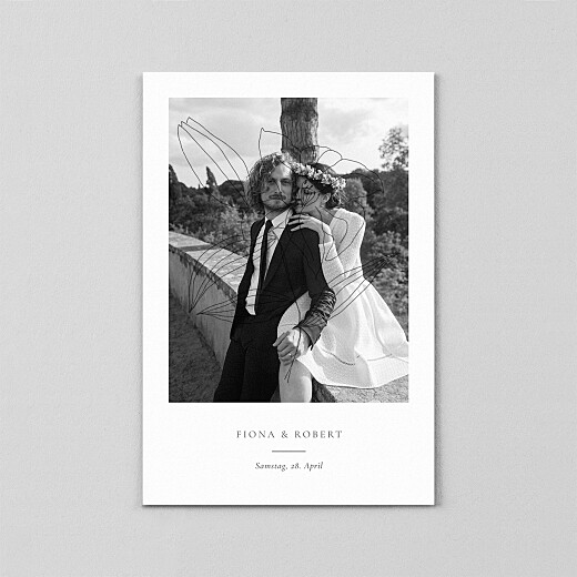 Dankeskarten Hochzeit Liebesgedicht (transparentpapier) white - Ansicht 2