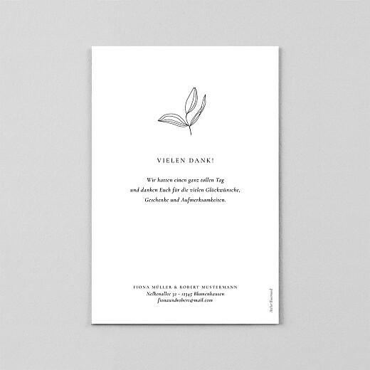 Dankeskarten Hochzeit Liebesgedicht (transparentpapier) white - Ansicht 3