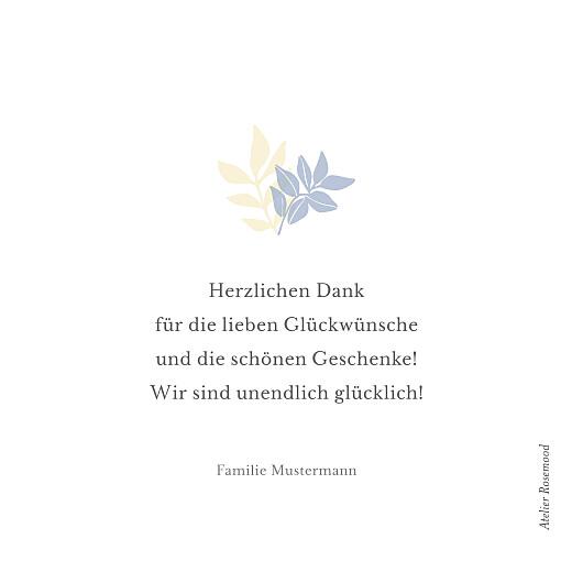 Dankeskarten Schlummertraum (mini) blau - Seite 2