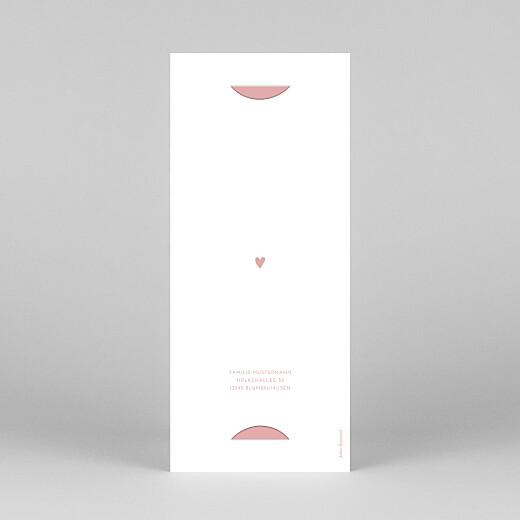 Taufeinladungen Elegant herz (fotostreifen) rosa - Ansicht 4