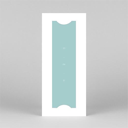 Taufeinladung Elegant herz (fotostreifen) blau - Ansicht 3