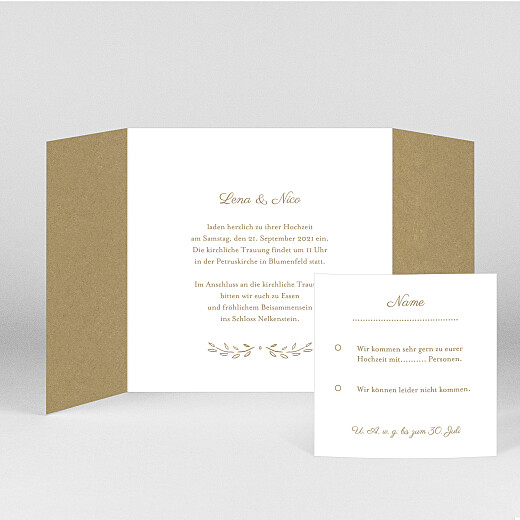 Hochzeitseinladungen Lyrik (duo) kraft - Ansicht 2