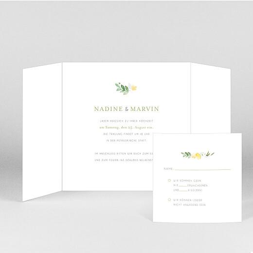 Hochzeitseinladungen Englischer garten (duo) grün - Ansicht 2
