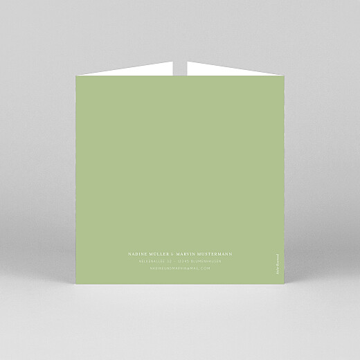 Hochzeitseinladungen Englischer garten (duo) grün - Ansicht 3