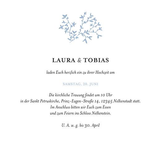 Hochzeitseinladungen Zarte poesie (klappkarte) blau - Seite 3