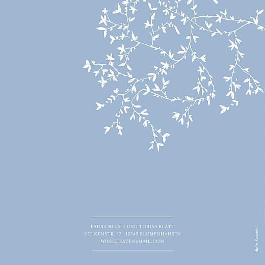 Hochzeitseinladungen Zarte poesie (klappkarte) blau - Seite 4