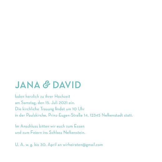 Hochzeitseinladungen Aquarell (klappkarte) blau - Seite 3