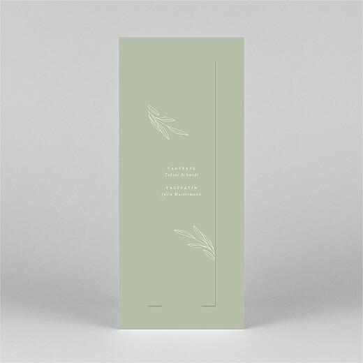 Taufeinladungen Kleiner sprössling (fotostreifen) grün - Ansicht 3