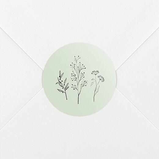 Aufkleber Taufe Floral minimal grün - Ansicht 2