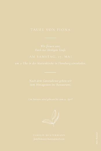 Taufeinladungen Liebesgedicht gelb - Seite 2