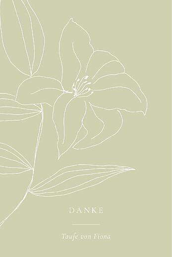 Dankeskarten Liebesgedicht (mini) grün