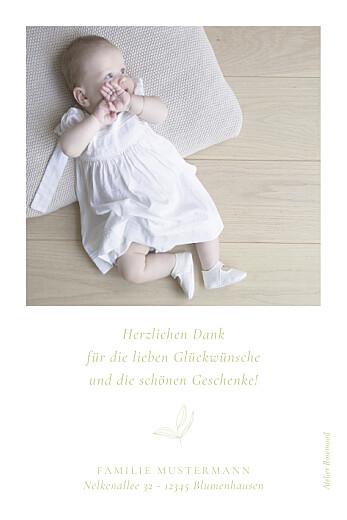 Dankeskarten Liebesgedicht (mini) grün - Seite 2