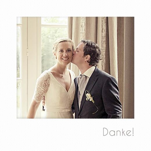 Dankeskarten Hochzeit Polaroid mini (3 fotos) weiß
