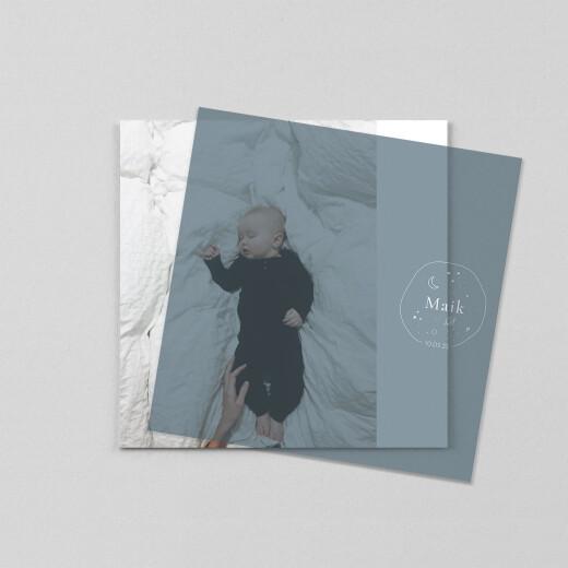 Geburtskarten Kleiner astronaut (transparentpapier) quadrat blau - Ansicht 1