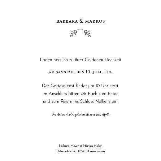 Hochzeitseinladungen Blütenspiegelung gold weiß - Seite 3
