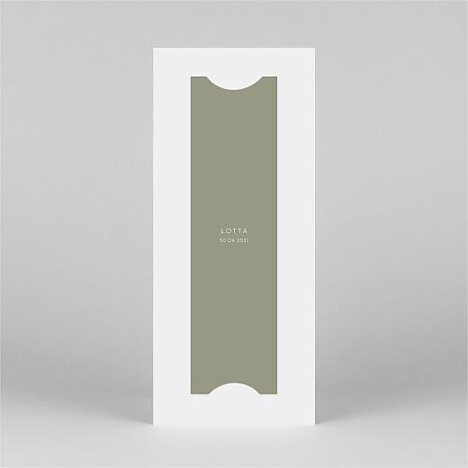 Dankeskarten Elegant herz (fotostreifen) grün - Ansicht 3