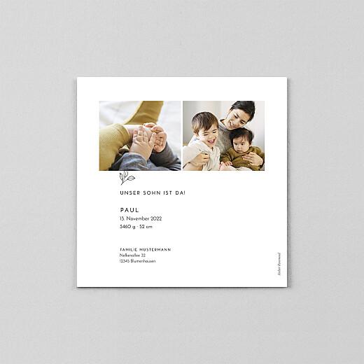 Geburtskarten Friedenstaube (transparentpapier) weiß - Ansicht 3
