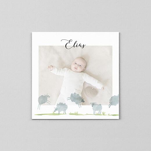 Geburtskarten Schäfchen (transparentpapier) weiß - Ansicht 2