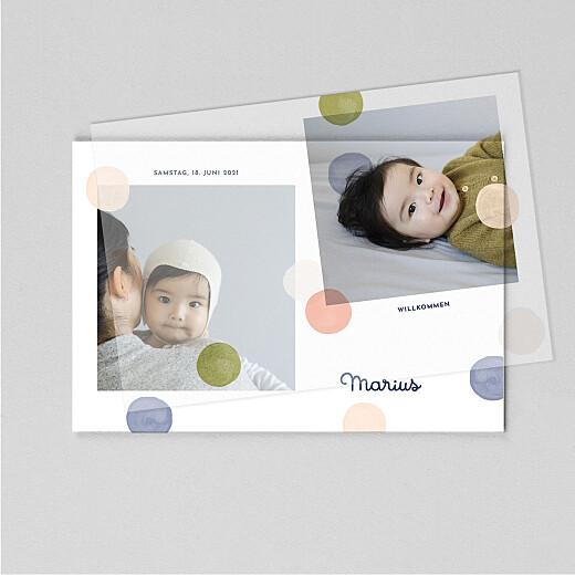 Geburtskarten Konfetti (transparentpapier) blau - Ansicht 1