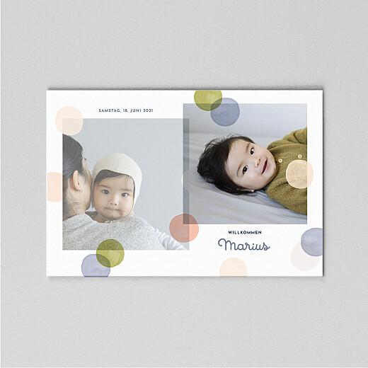 Geburtskarten Konfetti (transparentpapier) blau - Ansicht 2