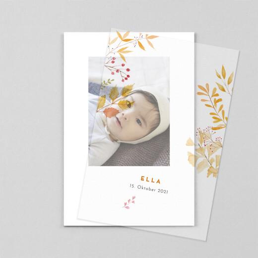Geburtskarten Vier jahreszeiten (transparentpapier) fallen - Ansicht 1