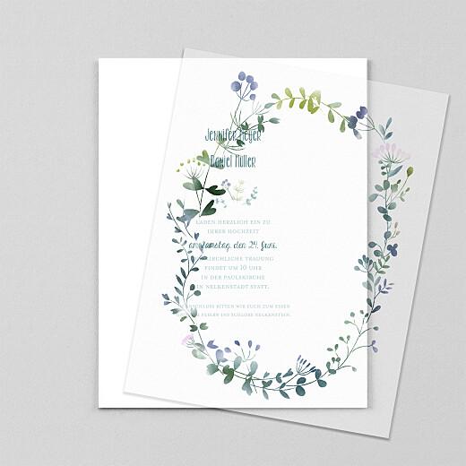Hochzeitseinladungen Wildblumen (transparentpapier) rosa - Ansicht 1