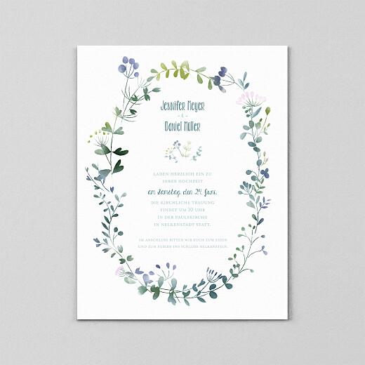 Hochzeitseinladungen Wildblumen (transparentpapier) rosa - Ansicht 2