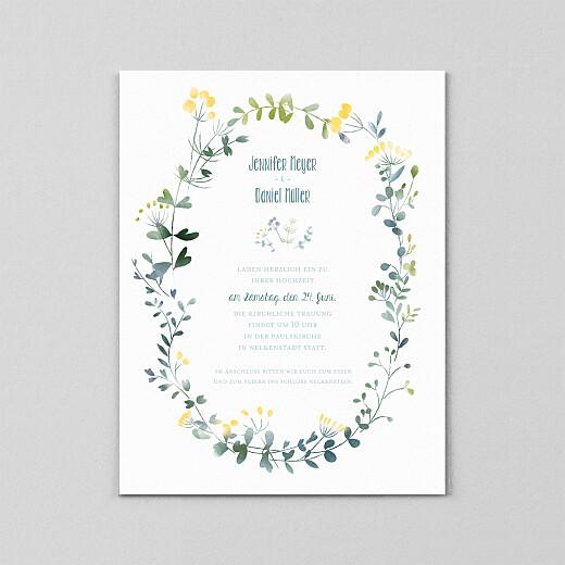 Hochzeitseinladungen Wildblumen (transparentpapier) gelb - Ansicht 2