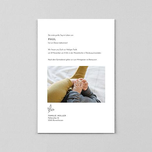 Taufeinladungen Friedenstaube (transparentpapier) weiß - Ansicht 3