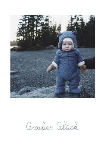 Geburtskarten Kleiner schatz (hoch) großes glück