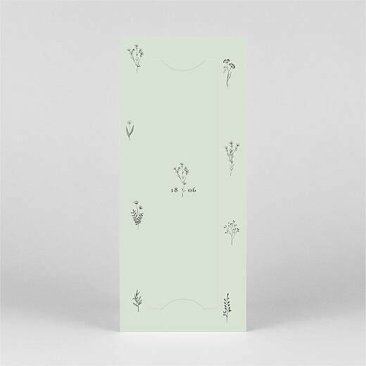 Einladungskarten Kommunion & Konfirmation Floral minimal (fotostreifen) grün - Ansicht 3