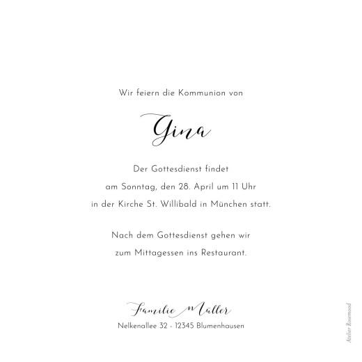 Einladungskarten Kommunion & Konfirmation Raffinesse weiß - Seite 2